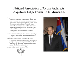 National Association of Cuban Architects Arquitecto Felipe