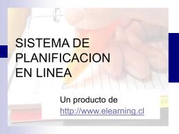 SISTEMA DE PLANIFICACION EN LINEA