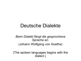 Deutsche Dialekte - Co