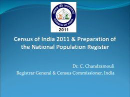 An Introduction to Census of India 2011