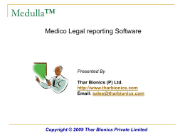 Medulla - Thar Bionics Private Limited