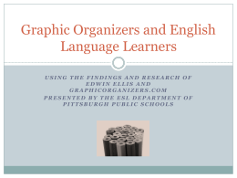 Graphic Organizers and English Language Learners