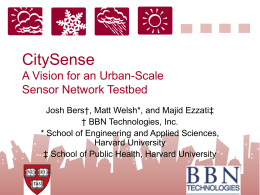CitySense A Vision for an UrbanScale Sensor Network …