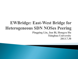 East-West Bridge for SDN Network Peering