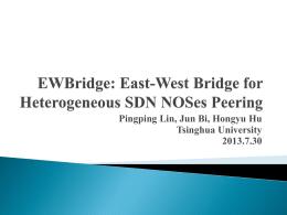 East-West Bridge for SDN Network Peering