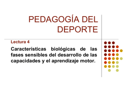 PEDAGOGIA DEL DEPORTE