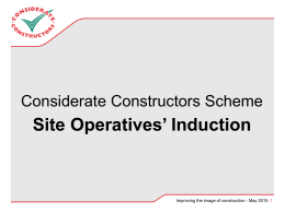 The Best Practice Hub - Considerate Constructors Scheme
