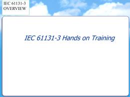 IEC-1131-3 - Automation Seminars