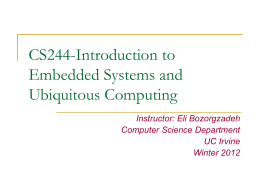 CS244- Introduction to embedded systems and …