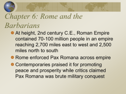 The World's History, 3rd ed. Ch. 6: Rome and the Barbarians