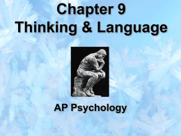 Chapter 9 Thinking & Language