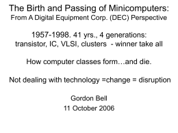 The Coming and Going of Minicomputers: A DEC …