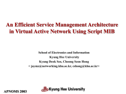 Service Management Architecture in VAN Using Script MIB