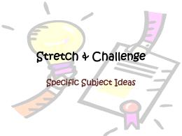 Stretch & Challenge