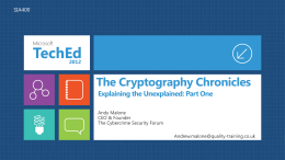 The Cryptography Chronicles: Explaining the Unexplained
