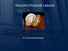 Derecho Procesal Laboral TERCERA CLASE