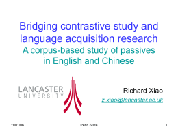 Bridging contrastive study and language acquisition