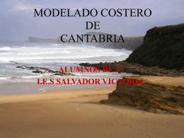 MODELADO COSTERO DE CANTABRIA