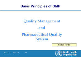 GMP Updated Training Modules