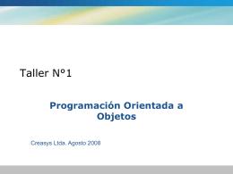 OOP: Programacion Orientada a Objetos