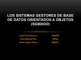 Los SISTEMAS GESTORES DE BASE DE DATOS …