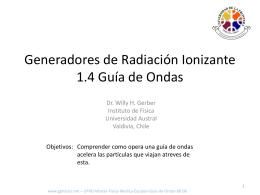 Equipamiento Radiologico Guia de Ondas