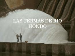 LAS TERMAS DE RIO HONDO