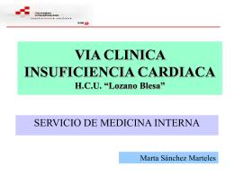 "VIA CLINICA INSUFICIENCIA CARDIACA H.C.U. ""Lozano …"