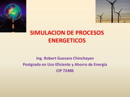 SIMULACION DE PROCESOS ENERGETICOS