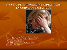 Cuidados paliativos REFLEXION HUMANISTA