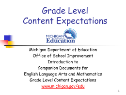 Assessing Michigan's Grade 3