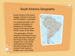 South America Geography