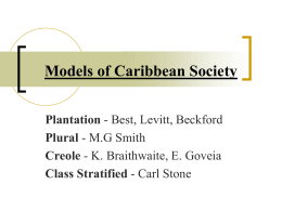 Models of Caribbean Society