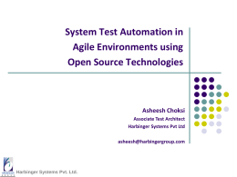 Test Automation with Open Source Technologies