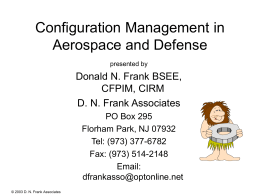 Configuration Management in