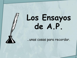 Los Ensayos de A.P.