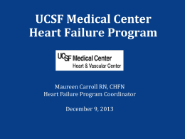 Reducing Heart Failure Readmissions