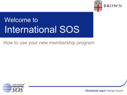 Using Your International SOS Program