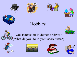 Hobbys - Teaching Ideas