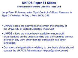 Slides - Diabetes Trials Unit : Home page