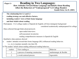 Paper-1 Reading in Two Languages: How Attitudes …