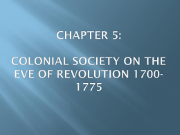CHAPTER 5: Colonial Society on the - kollaschapush