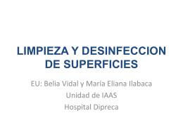 LIMPIEZA Y DESINFECCION - Sociedad Chilena de Control …