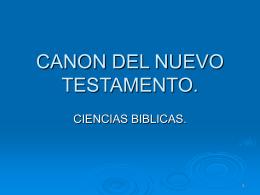CANON DEL NUEVO TESTAMENTO.