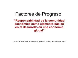 Factores de Progreso