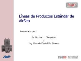 AirSep Standard Product Lines
