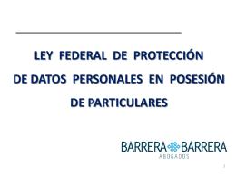 Objeto de la ley - BARRERA BARRERA ABOGADOS