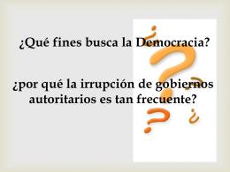 DICTADURAS Y DEMOCRACIAS EN EL MUNDO