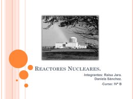Reactores Nucleares.