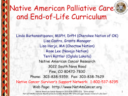 Native American Palliative Care and End-of